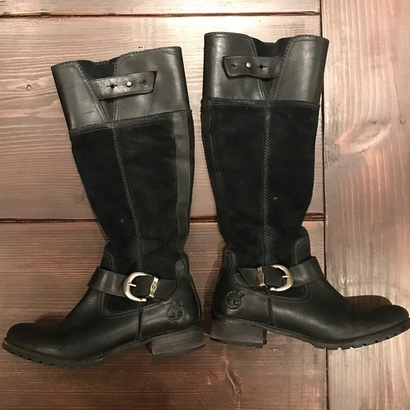 Timberland Bethel Buckle Leather and Suede Boots